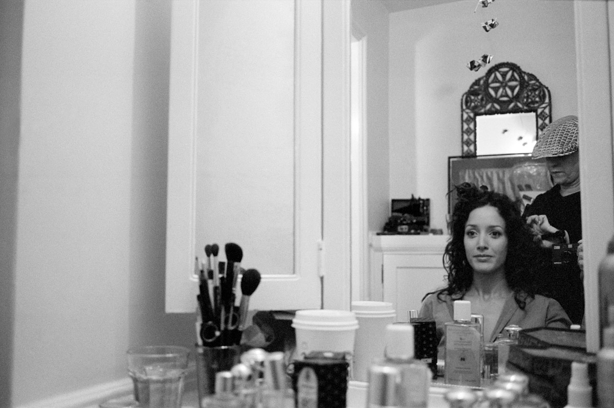 Jennifer. Getting ready for the Golden Globes.